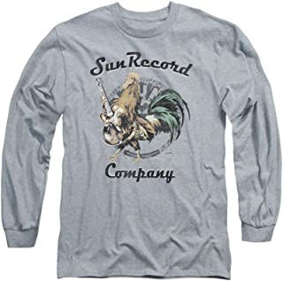 Sun Records Rockin Rooster On Gray Adult Long-Sleeve T-Shirt
