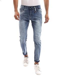 Andora Whiskered Slim-Fit Denim Pants for Men