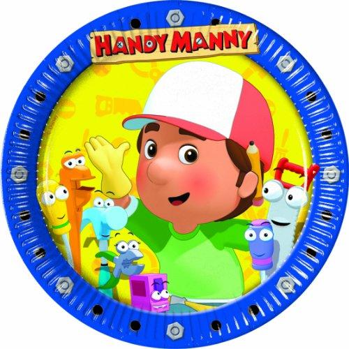 Meister Manny's Werkzeugkiste Pappteller