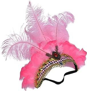Halloween Feather Headwear with Rhinestone