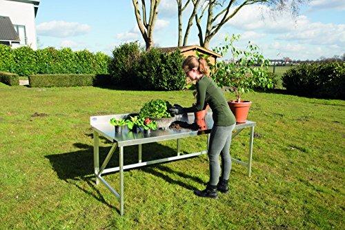 Weise Premium Pflanztisch Party-Tisch Buffet-Tisch Aluminium klappbar 120 x 80 cm rostfrei