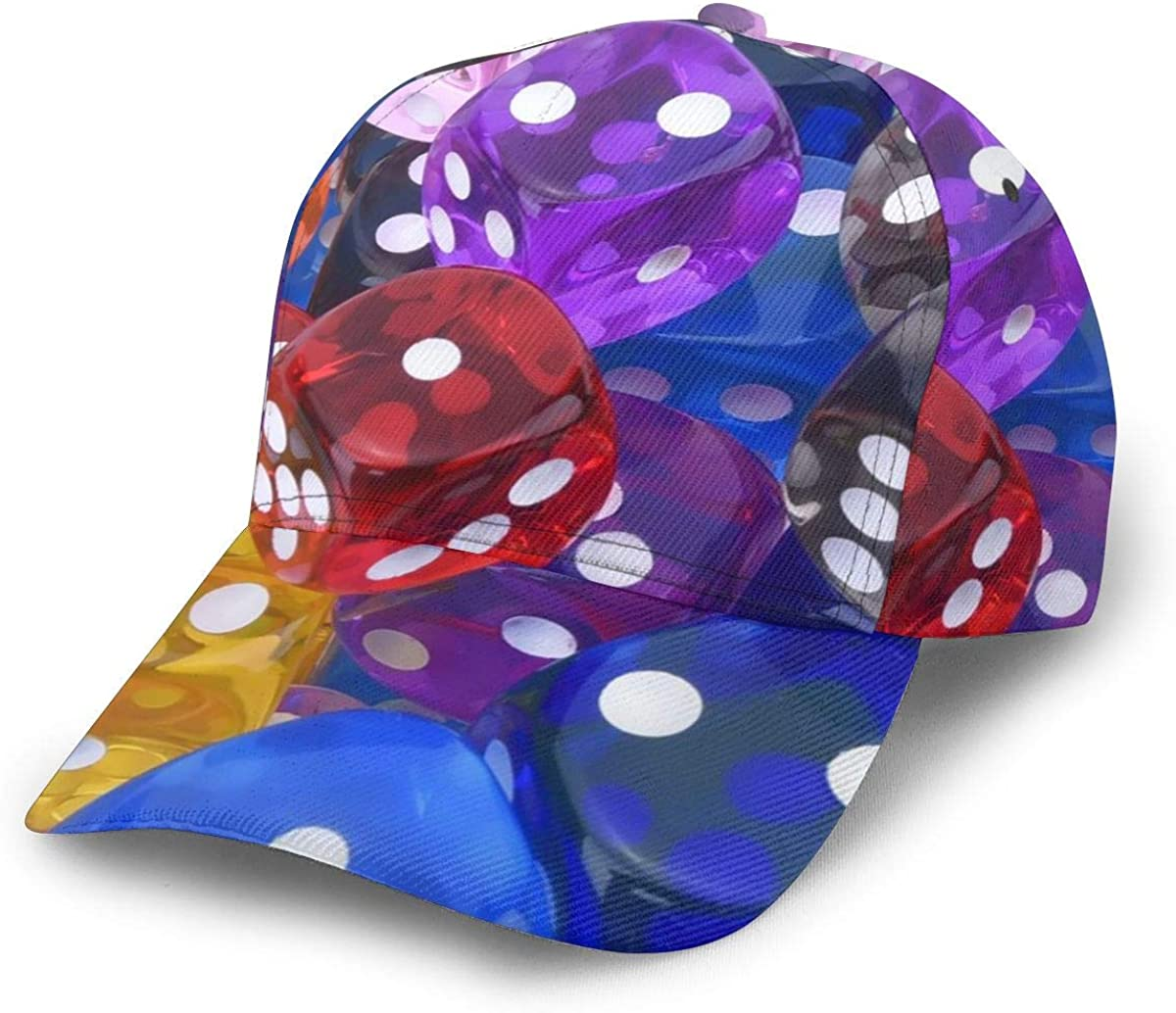Baseball Cap 6-Sided Games Dice Fixed price for sale Cheap SALE Start Set Dad Caps Circular Print Flat