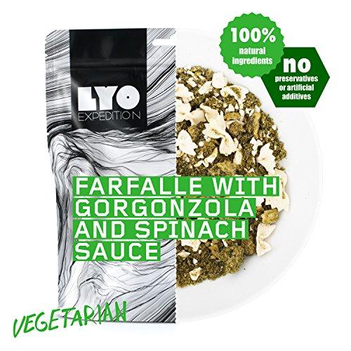 Lyo Food Farfalle mit Gorgonzola und Spinat-Sauce 370g