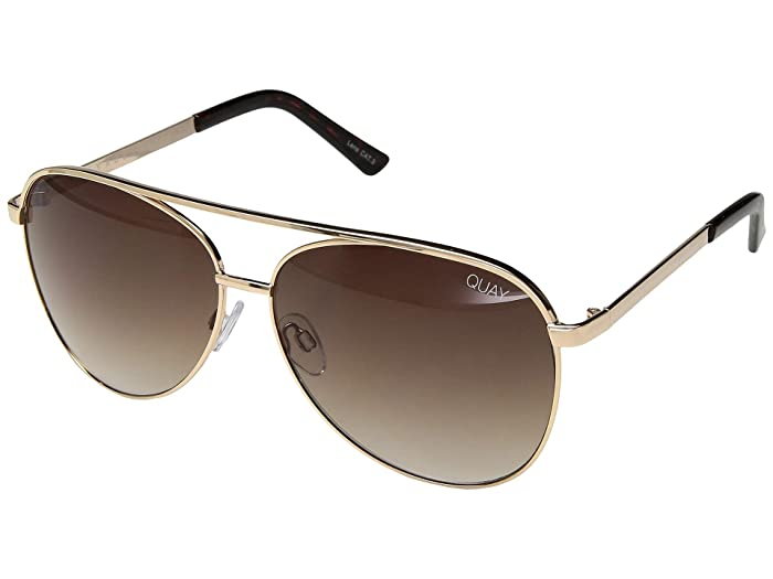 Chrissy X Quay Vivienne (Gold/Brown) Fashion Sunglasses