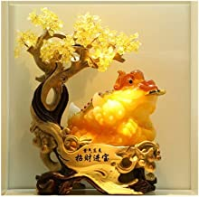 Decorations, Lucky Fortune Tree, Golden Toad Ornaments, Crafts, Living Room, Wine Cabinet, Office, Golden Cicada Decoratio...