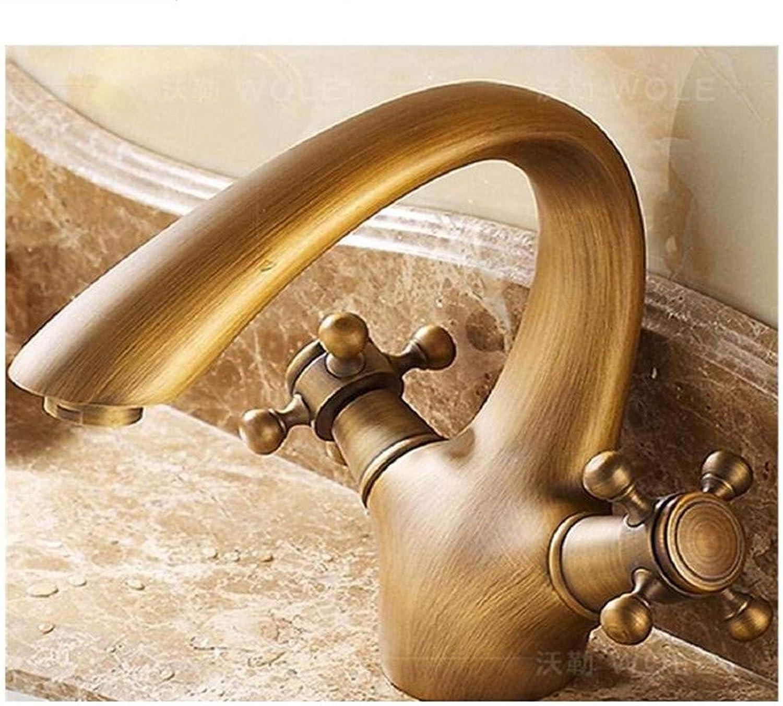 Bathroom Faucet Chrome Brass Ceramic Dual Handle Single Hole Sink Mixer Tap, 1