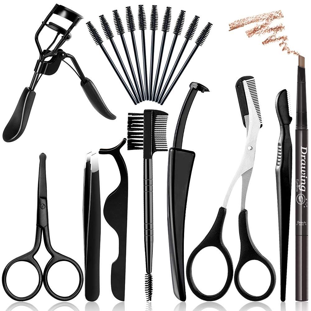 19Pcs Eyebrow Popular standard Grooming half Kit Sciss Razor Kalolary