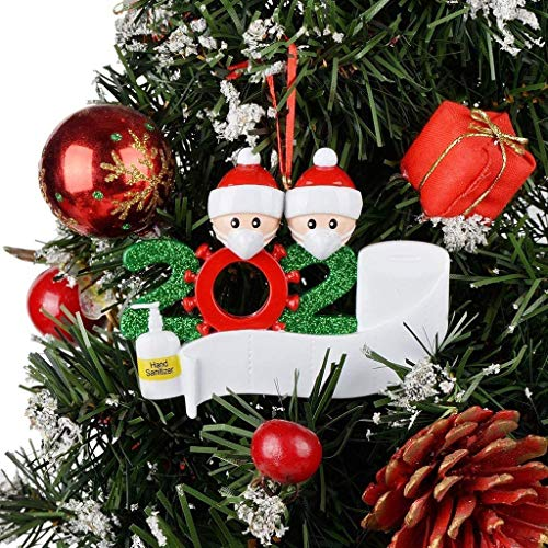 yeyeyo Personalized Christmas Ornament Kit Family Creative Decorating 2020 Christmas Ornament DIY Creative Gift Christmas Decorating Kit for Family