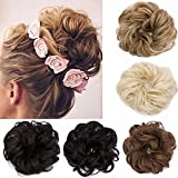 Hair Bun Extensions Wavy Curly Messy Dish Donut Scrunchie Hairpiece Chignons Ponytail Pony