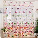 MChoice Hot! Girls Butterfly Print Sheer Window Panel Curtains Room Divider New for Living Room Bedroom, 39.37' W x 78.74' L