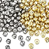 Zhanmai 400 Pieces Jingle Bells, 1/2 Inch Craft Bells, DIY Bells for Wreath, Holiday Home and Christmas Decoration (Silver/Gold)