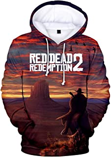 Game Red Dead Redemption 2 Unisex Pullover Hoodie Halloween Sweatshirt Cosplay Costume