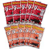 Strollo's Beef Jerky Hot Flavor Sampler 10 Pack (5 Hot, 5 Hot Garlic)- Low Sodium, Low Sugar, Low Carb - Made with all Natural USA Beef, USDA Certified