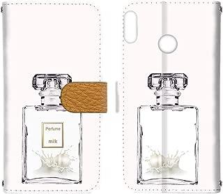 [FFANY] HUAWEI nova lite 3 (POT-LX2J) ケース 手帳型 カードタイプ 【香水:ミルク】 ネイル コスメ パフューム ノバライトスリー スマホケース 携帯カバー perfume-190752c