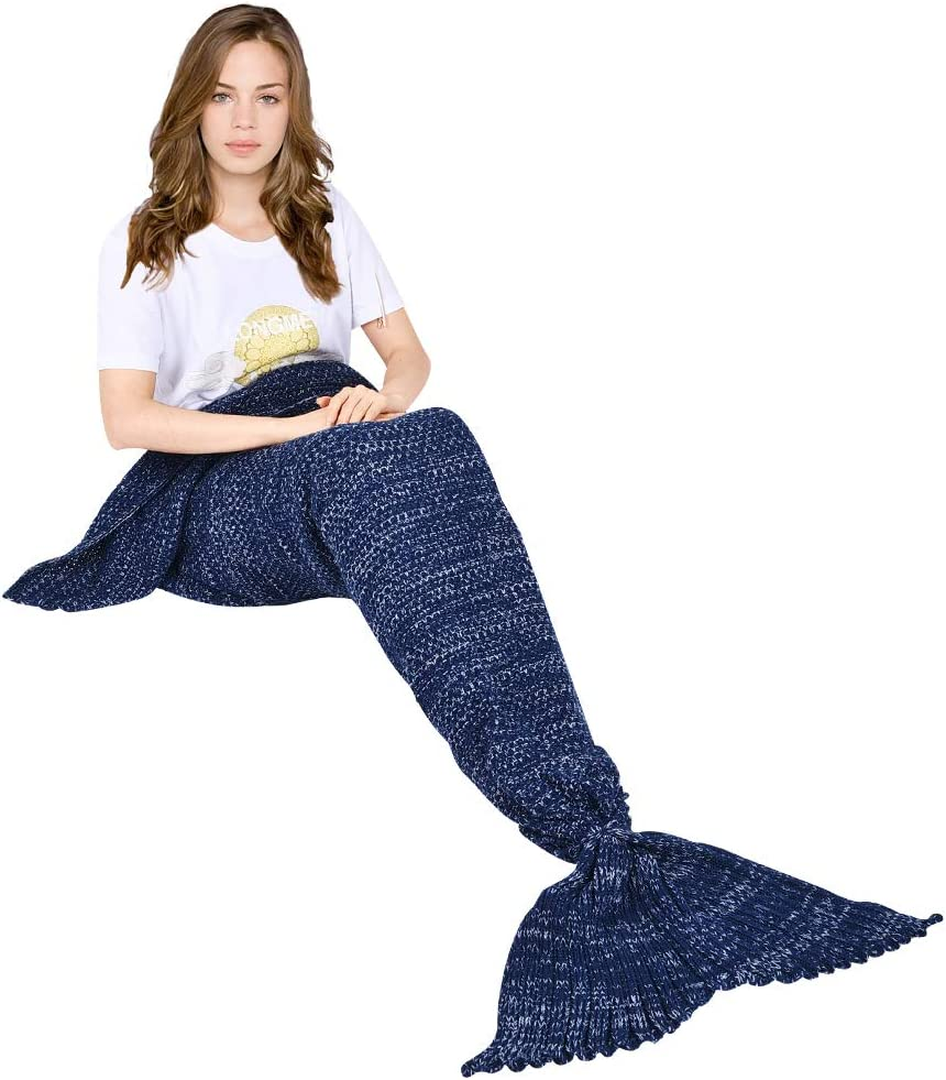yashidali Wearable Mermaid Tail Blanket All Seasons Max Special Campaign 57% OFF War Crochet