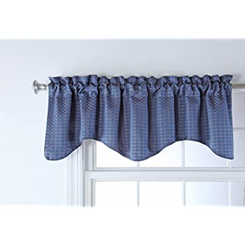 Amazon Com Stylemaster Home Products Renaissance Home Fashion Boxwood Lined Scalloped Valance With Cording 52 By 17 Inch Marine Home Kitchen