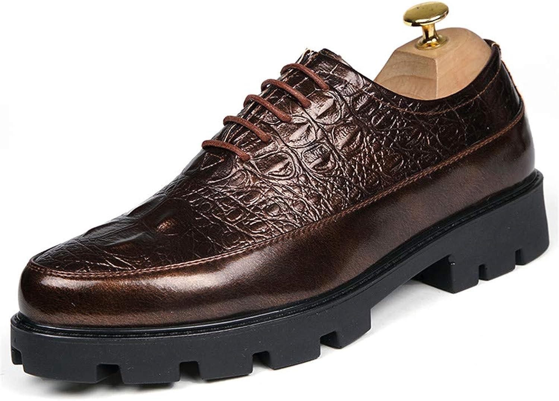 Z.L.F. Z.L.F. Z.L.F. skor Mans's Retro Moderna Oxfordskor Full steal 6.0cm Hight Heel Crocodile Mönster Lace Up skor läder skor  utlopp till salu