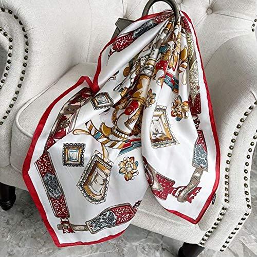 Tony plate Bufanda De Seda para Mujer Bufandas De Cuello Cuadrado con Estampado De Caballo Pañuelo Grande para La Cabeza De Dama Pañuelo Grande-1