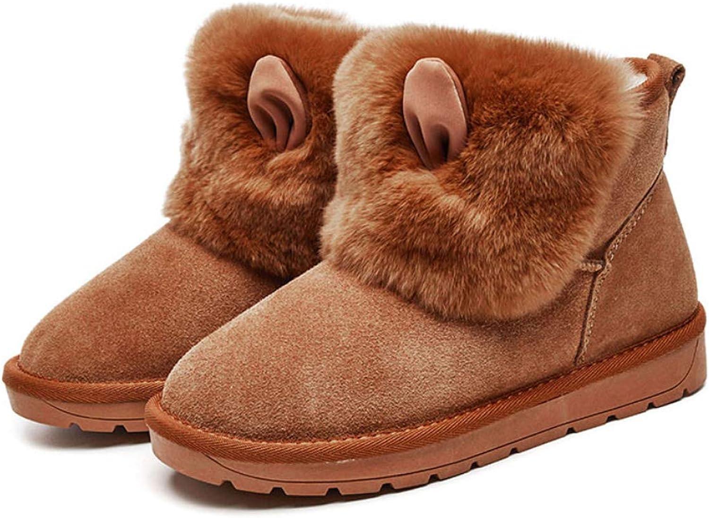 DANDANJIE Damenschuhe Winter Winter Winter Niedliche Schneeschuhe Flache Ferse Runde Zehe Cartoon Ankle Stiefelies  73c17f