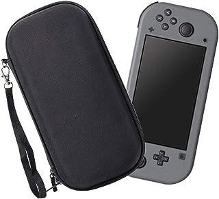 [Nintendo Switch Lite 対応] Nintendo Switch lite 専用の保護ケース, 任天堂スイッチミニ用のキャリングケース,外出や旅行用収納バッグ,ナイロン素材 防塵、防汚消臭処理、耐衝撃,12個カート/ケーブル/イヤホンなど小物収納可(ブラック)