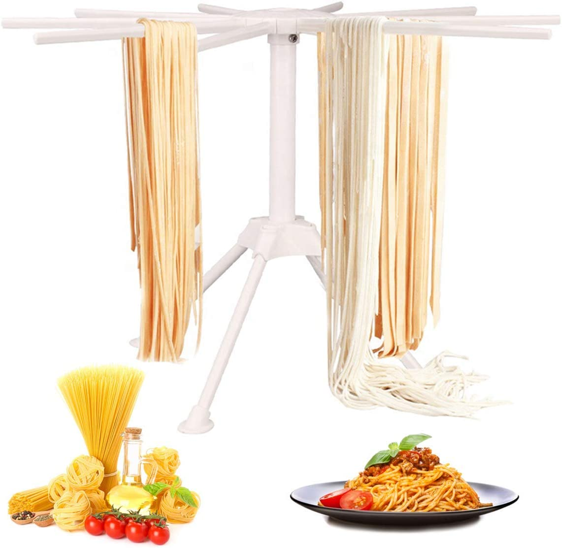GOZIHA Genuine OFFicial Free Shipping Pasta Drying Rack Noodle Stand Bar 10 Collap with Handles