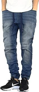 Men's Drop Crotch Denim Jogger Pants S-5XL
