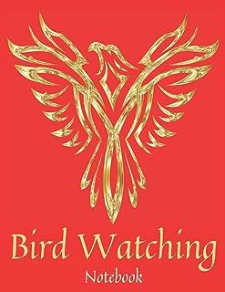 Red & Gold Bird Watching Notebook: Bird Watcher Gifts - Paperback Journal to write in