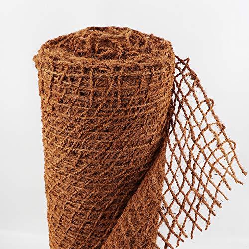 Ufermatte Böschungsmatte I Zum Sonderpreis I Kokosgewebe Kokosfaser-Matte 1m breit I Teichrand Pflanzen Wurzel-Schutz Kokosgeflecht Hangsicherung Bewuchsmatte (100m)