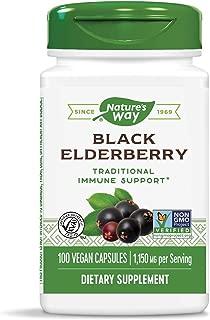 Nature's Way Black Elderberry Capsules, 1,150 mg per serving, Immune Support, 100-Count