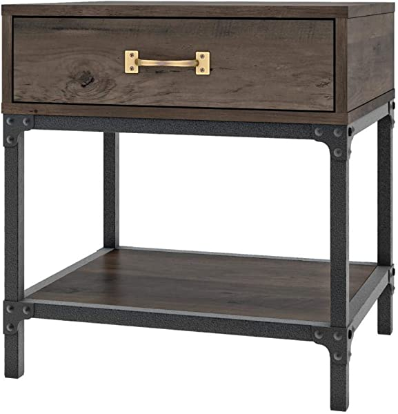 Bestar 101160 000004 Heka End Table Buffalo Brown