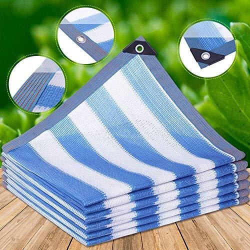 Gymqian Sombreado Netting Camo Netting Shade Paño 85% Uv Resistente a Uv Sombrilla Durable Hdpe Sun Mesh Shade Paño con Ojales para Jardín, Patio, Invernadero, Flor decoración/Azul / 5X5M