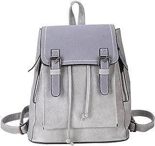 Fashion New Geometric Bag Harajuku Style Backpack (Color : Gray, Size : 25 * 16 * 28cm)