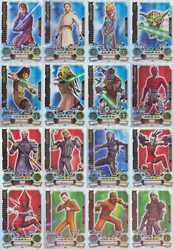 Star Wars Force Attax - SERIE 3 - ALLE 16 Force Meister - Deutsch