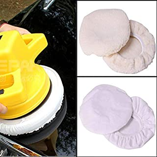 KINGZHUO 4 Pcs Polishing Bonnet Buffer Polishing Pad for 9 inch & 10 inch Car Polisher