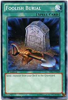 Yu-Gi-Oh! - Foolish Burial (SDLI-EN029) - Structure Deck: Realm of Light - 1st Edition - Common