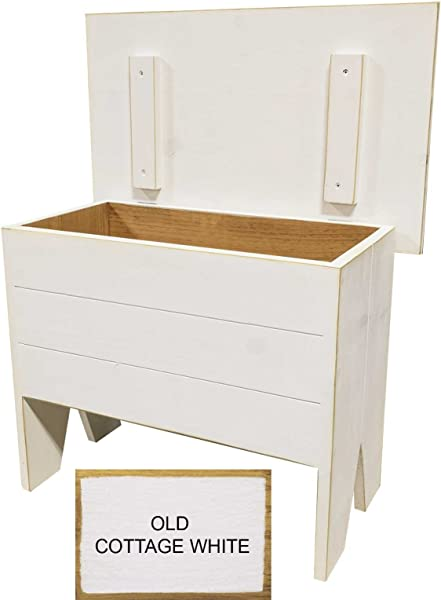 Sawdust City Entryway Bench With Storage 2 Long Old Cottage White