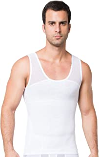 STTLZMC Men's Activewear Slimming Body Shaper Vest Tank Top Tummy Control Compression Undershirt