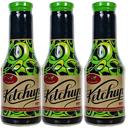 Aranyfacan Grillsoße Ketchup zuckerfrei mit Stevia in einer Glasflasche, 1 x 510g | ohne Zusatzstoffe, ohne Zucker | paleo | vegan | glutenfrei | kalorienarm | lactosefrei