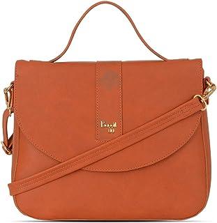 Baggit Spring/Summer 2021 Faux Leather Women's Saddle Handbag (Orange) (Joni)