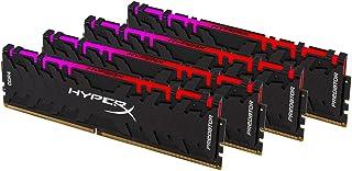 キングストン Kingston デスクトップPC用メモリ 32GB DDR4-3200 8GBx4枚 HyperX Predator RGB HX432C16PB3AK4/32 RGB LED