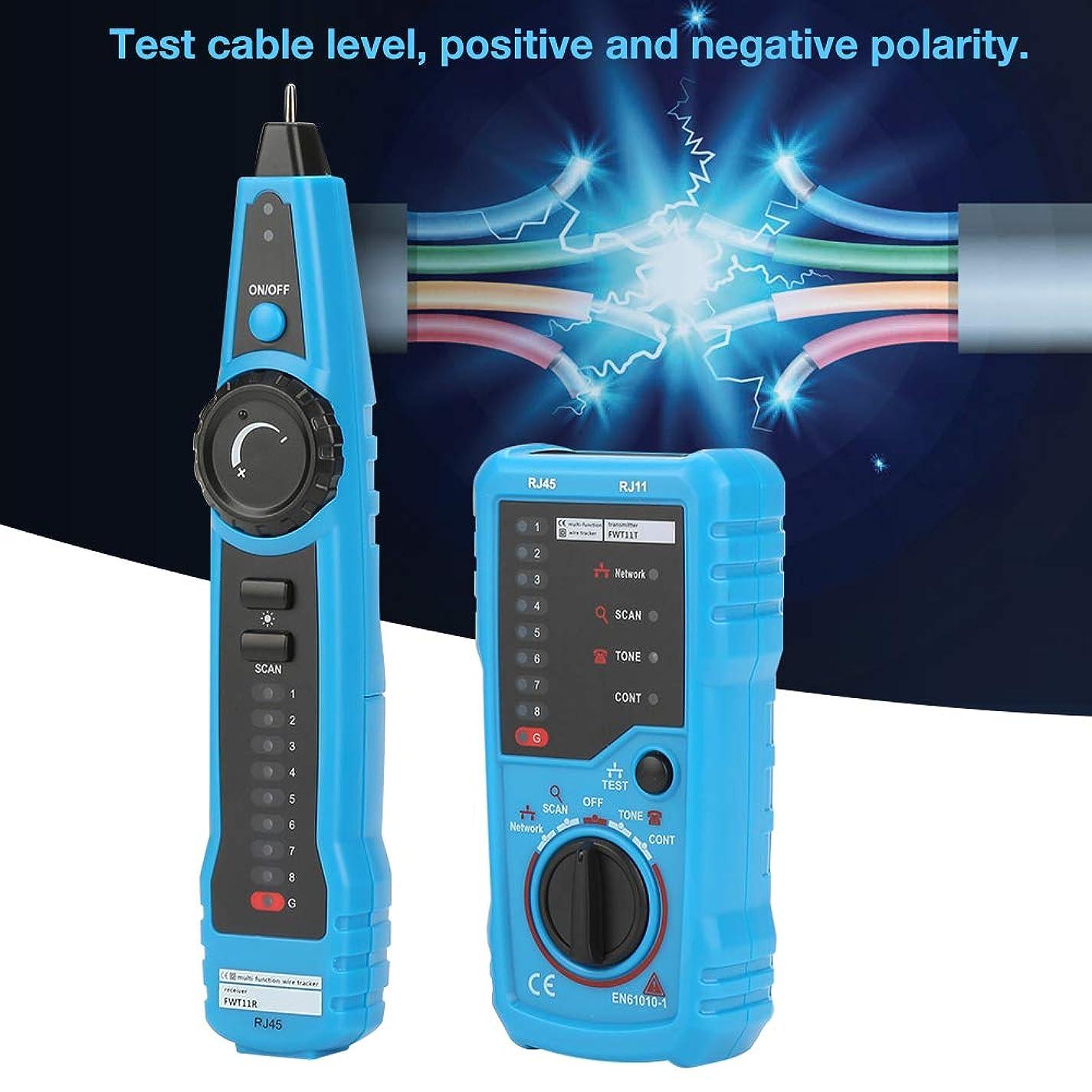 吹きさらしうそつき追い越すケーブルテスター、FWT11ハンドヘルドRJ11 RJ45電話線トラッカーイーサネットLANネットワークケーブル検出器