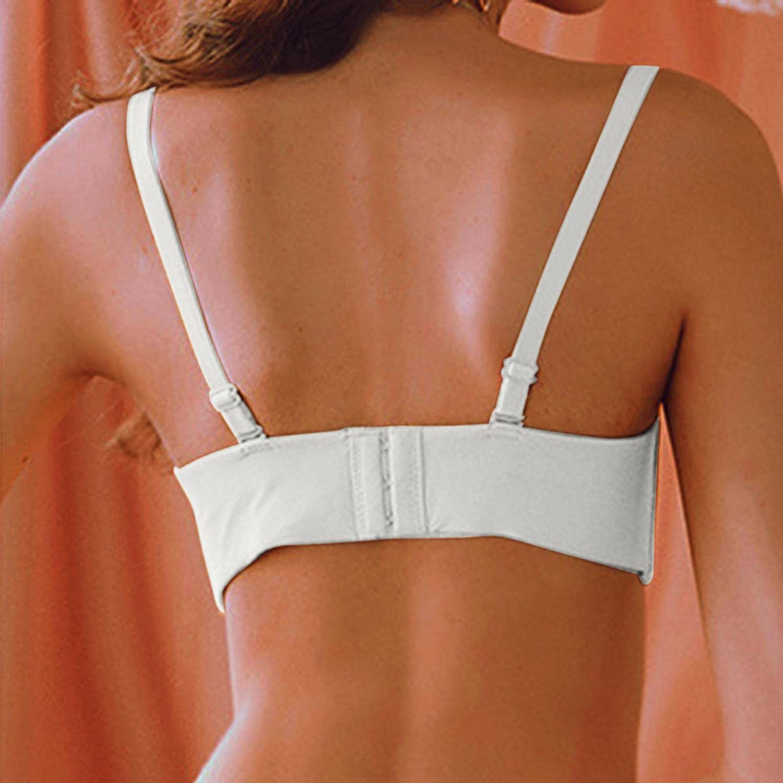 USYY Women's Padded Bra V Deep Seamles Bras Ladies U Backless Soft Everyday Bras Thin Sexy Underwear