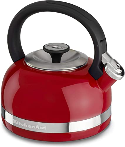 wholesale KitchenAid 2.0-Quart Full Handle online sale and Trim Band Stovetop Kettle, 2, online Empire Red sale