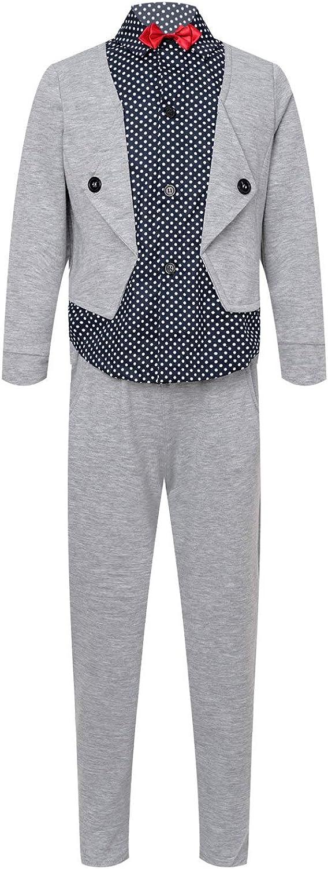 Agoky Kids Boys Vest Long Sleeve Su Pants Regular dealer Bowtie Shirt New Orleans Mall with Tops