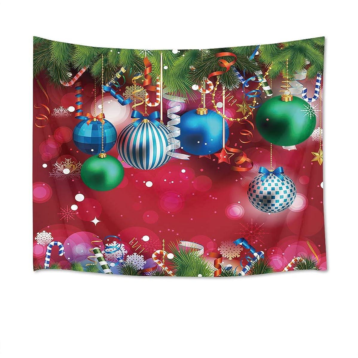 LB クリスマス飾り物 タペストリー カラフルなボール おしゃれ壁掛け 装飾布 欧米風 インテリア デコレーション 多機能 パーティー リビング 窓 お店 個性ギフト 人気 お祝い 150x100cm