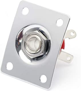 Metallor Output Input Jack Plat Socket for Tele SG Style Electric Guitar Parts Chrome.