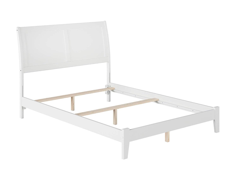 Atlantic Furniture Portland Traditional Bed, Full, White