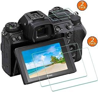 Z6 Z7 protector de pantalla Appliable para Nikon Z7/Z6 cámara digital sin espejo [2+2 unidades] BTER antiarañazos antihuellas dureza óptica 9H 03 mm protectores de pantalla LCD de vidrio templado