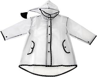 Janjunsi 子供用 ポンチョ レインコート キッズ 雨具 透明 小学生 便利 通学 超軽量 シンプル