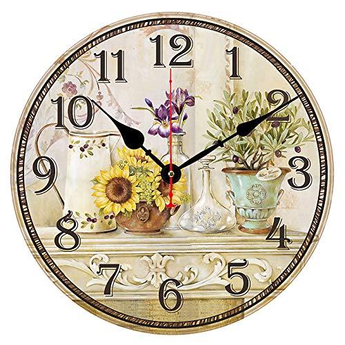 CIFFOST Reloj de Pared Creativo, Reloj Retro Europeo con Adhesivo de Pared, Estilo Elegante y Varios tamaños, decoración de café de Oficina en el jardín de casa-Sección S_40,5 cm 16 Pulgadas